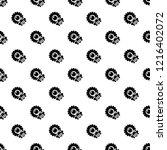 bee flower pattern seamless... | Shutterstock . vector #1216402072