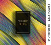 holographic layer background... | Shutterstock .eps vector #1216406065