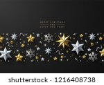 christmas and new year greeting ... | Shutterstock .eps vector #1216408738