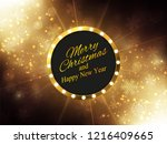 christmas  new year background. ... | Shutterstock .eps vector #1216409665