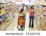 family shopping for groceries... | Shutterstock . vector #12164131