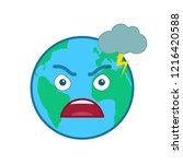 angry world globe isolated... | Shutterstock .eps vector #1216420588