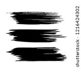 vector set of grunge brush... | Shutterstock .eps vector #1216424302