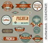 collection of vector badges and ... | Shutterstock .eps vector #1216424635
