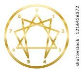 golden enneagram of personality.... | Shutterstock .eps vector #1216426372