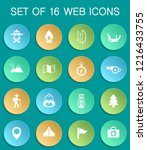 day of scouts web icons on... | Shutterstock .eps vector #1216433755