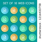 documents web icons on colorful ... | Shutterstock .eps vector #1216433758