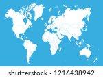 color world map vector | Shutterstock .eps vector #1216438942