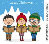 Christmas Card. Children With...