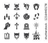 werewolves icon set flat icon... | Shutterstock .eps vector #1216440178