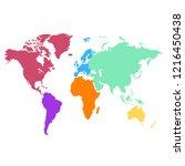 world map vector | Shutterstock .eps vector #1216450438