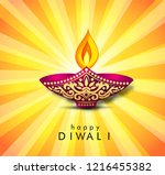 happy diwali banner and poster... | Shutterstock .eps vector #1216455382