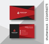 modern red and black business... | Shutterstock .eps vector #1216456075