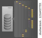 computer file structure folders ... | Shutterstock .eps vector #1216457755