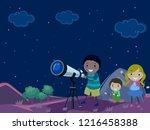 illustration of stickman kids... | Shutterstock .eps vector #1216458388