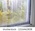 condensation on window glass on ... | Shutterstock . vector #1216462858