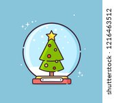 christmas glass ball with... | Shutterstock .eps vector #1216463512