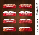 christmas vector red glossy... | Shutterstock .eps vector #1216466698