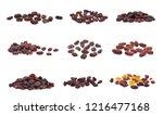 raisins isolated on white... | Shutterstock . vector #1216477168
