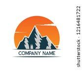 mountain logo icon design... | Shutterstock .eps vector #1216481722