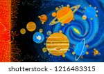 the solar system on the... | Shutterstock . vector #1216483315