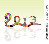 snake vector sign for 2013 year ...   Shutterstock .eps vector #121648498