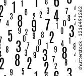 numbers shapes seamless pattern ...   Shutterstock .eps vector #1216491262