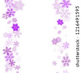 winter snowflakes border trendy ... | Shutterstock .eps vector #1216491595