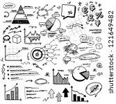 hand doodle charts | Shutterstock .eps vector #121649482