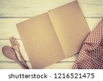 blank page of book notepad... | Shutterstock . vector #1216521475