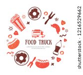 food truck banner template for... | Shutterstock .eps vector #1216529662