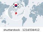 world map centered on america... | Shutterstock . vector #1216536412