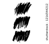 vector set of grunge brush... | Shutterstock .eps vector #1216544212