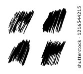 vector set of grunge brush... | Shutterstock .eps vector #1216544215