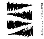 vector set of grunge brush... | Shutterstock .eps vector #1216544218