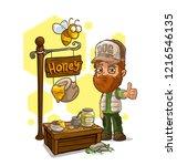 cartoon bearded driver in... | Shutterstock .eps vector #1216546135