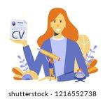 cv  human resources ...   Shutterstock .eps vector #1216552738