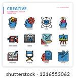 creative icon set   Shutterstock .eps vector #1216553062