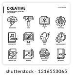 creative icon set | Shutterstock .eps vector #1216553065