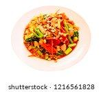 somtum  thai food esan food. | Shutterstock . vector #1216561828