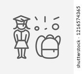 school girl icon line symbol....