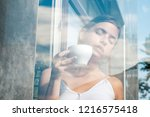 perfect morning with best... | Shutterstock . vector #1216575418