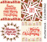 set of christmas cards with... | Shutterstock .eps vector #1216584562