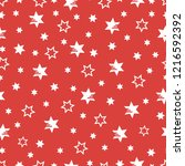 seamless pattern with stars.... | Shutterstock .eps vector #1216592392