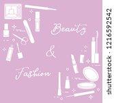 decorative cosmetics.... | Shutterstock .eps vector #1216592542