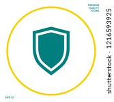 shield  protection icon.... | Shutterstock .eps vector #1216593925