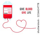donate blood and save life... | Shutterstock .eps vector #1216614778