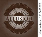 allusion retro wooden emblem   Shutterstock .eps vector #1216625872