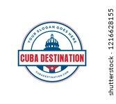 cuba destination logo | Shutterstock .eps vector #1216628155