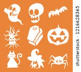 happy halloween elements trick... | Shutterstock .eps vector #1216628365